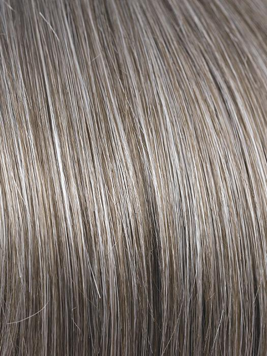 SANDY-SILVER | Medium brown transitionally blending to silver with silver bangs