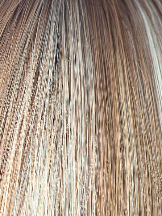 NUTMEG-R | Rooted Dark Honey Brown Base with Strawberry Blonde Highlights