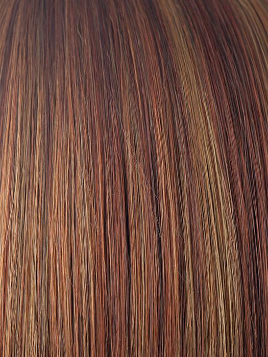 IRISH SPICE R | Rooted Dark with Medium Auburn base with Dark Honey Blonde highlights