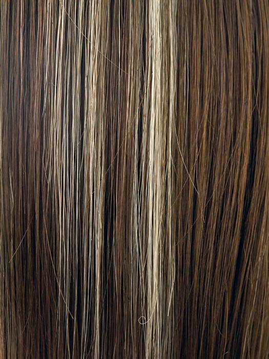 ICED-MOCHA | Medium brown with gold blond highlights