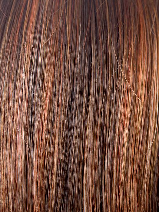 GINGER-HIGHLIGHT | Medium Brown with Light Auburn highlights