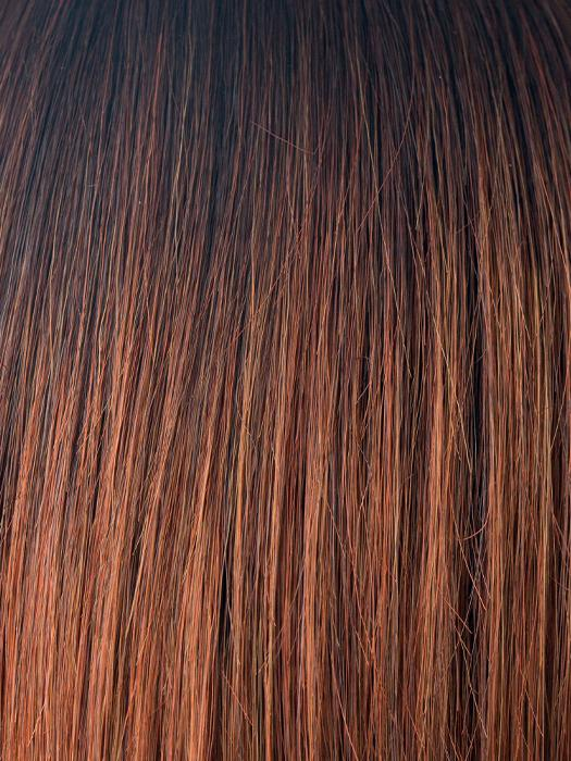 CRIMSON-LR | Dark Burgundy with Light Coppery ends and long dark roots