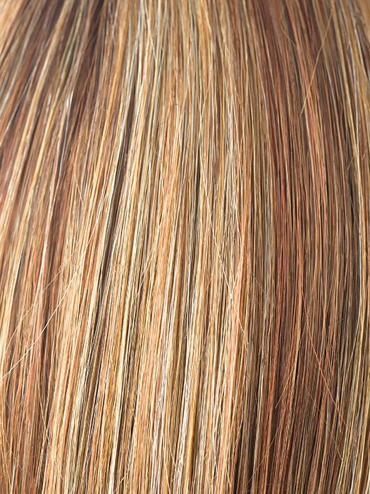 COPPER GLAZE R | Dark Bronzed Brown with Red Gold highlights with Dark Brown roots