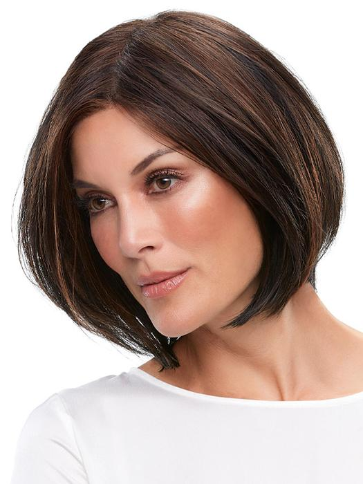 A chin-length bob that features a SmartLace hairline and monofilament top