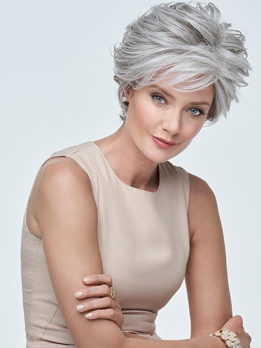 READY FOR TAKEOFF by Raquel Welch in RL51/61 ICED GRANITA | Lightest Grey Progresses to a Deep Grey at the Nape