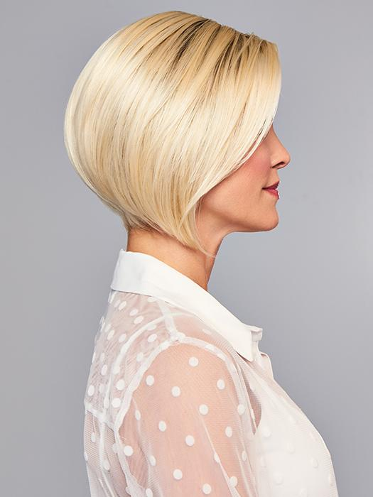 A subtly layered and expertly tapered chin length wig.
