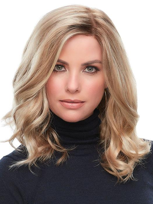 CLAIR by JON RENAU in 12FS8 | Light Gold Brown, Light Natural Gold Blonde and Pale Natural Gold-Blonde Blend, Shaded with Medium Brown