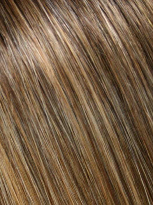 24B18S8 SHADED MOCHA | Dk Ash Blonde/Honey Blonde Blend, Shaded w/ Med Brown