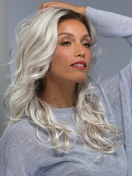 BLAZE by Estetica in SILVERSUN/RT8 | Iced Blonde with Soft Sand & Golden Brown Roots