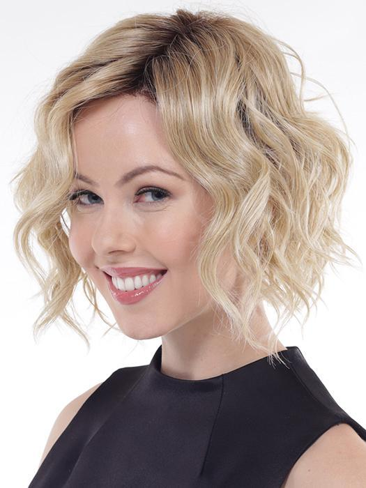 With the more extended A-line cut in the front, it is an updated twist from the perfect beach wave!
