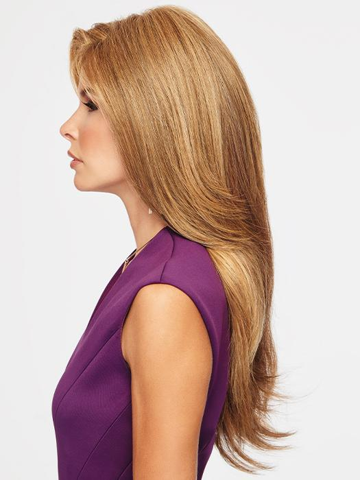 TOP BILLING by RAQUEL WELCH in RL29/33SS ICED PUMPKIN SPICE | Strawberry Blonde shaded with Dark Red-Brown