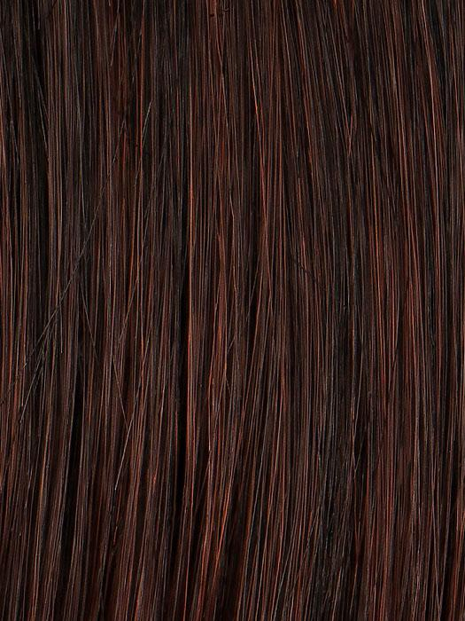 R435S+ GLAZED BLACK CHERRY | Midnight Brown with Burgundy highlights