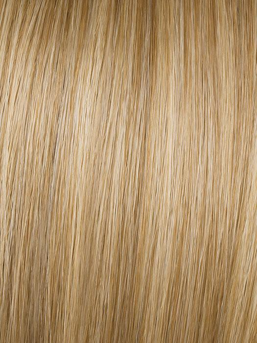 R14/88H = GOLDEN WHEAT: Medium Blonde streaked with pale Gold highlights, Medium Brown roots