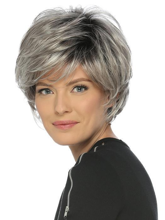 Short Feathery Layered Cut with Volume & Wispy Full Bangs