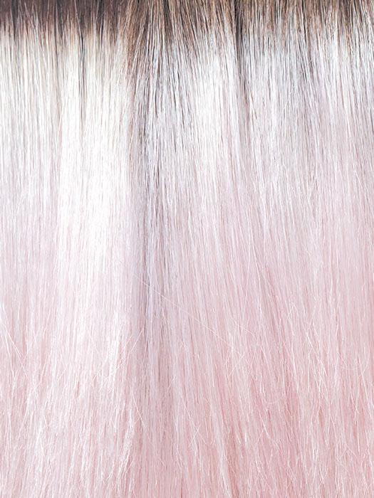 BUBBLEGUM-R | Pastel Pink base with Dark roots