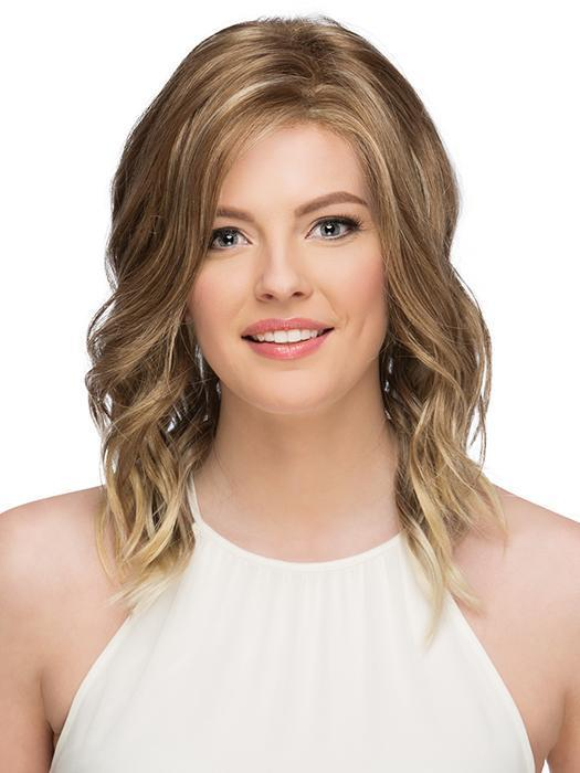 OCEAN by ESTETICA in R613BG14 | Dark Blonde with Fine Pale Blonde highlights & Pale Blonde tipped ends