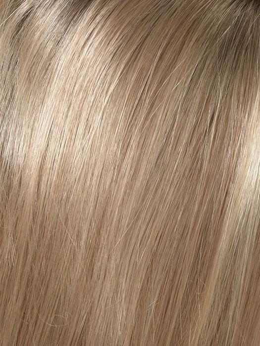SPARKLING-CHAMPAGNE | Medium Brown roots with overall Strawberry Blonde base and soft Golden Blonde highlights
