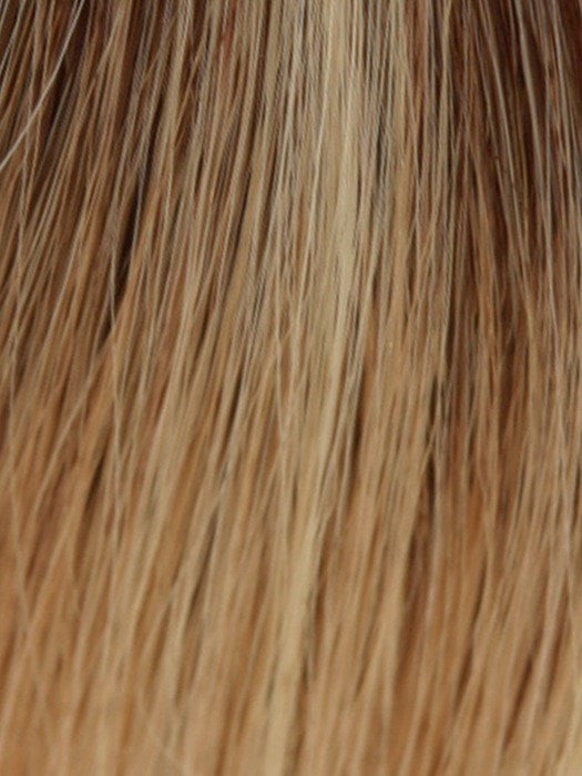 SUNSHINE GOLD | Dark Brown Root and Light Blonde Blended with Light Red Tones