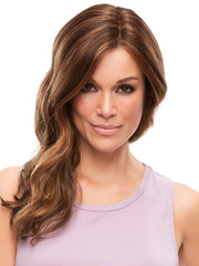 SARAH WIG by Jon Renau in 6F27 CARAMEL RIBBON | Natural Gold Brown with Medium Red-Gold Blonde Highlights and Tips