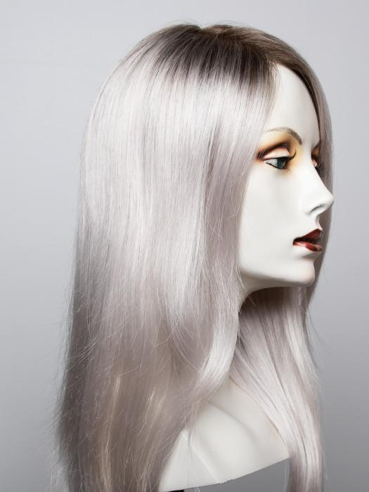60S18 SLEET | Pure White shaded with Dark Natural Ash Blonde
