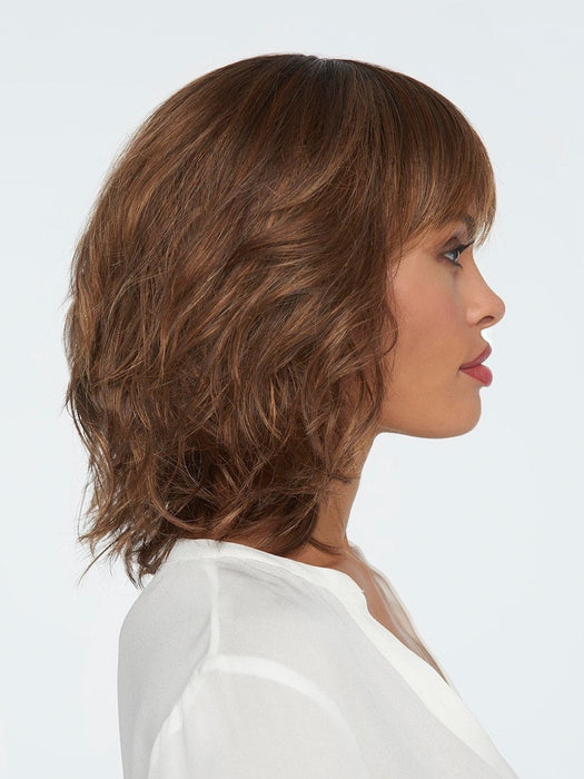 STOP TRAFFIC by Raquel Welch in SS9/30 SHADED COCOA | Dark Brown with subtle Warm highlights and Dark Brown roots