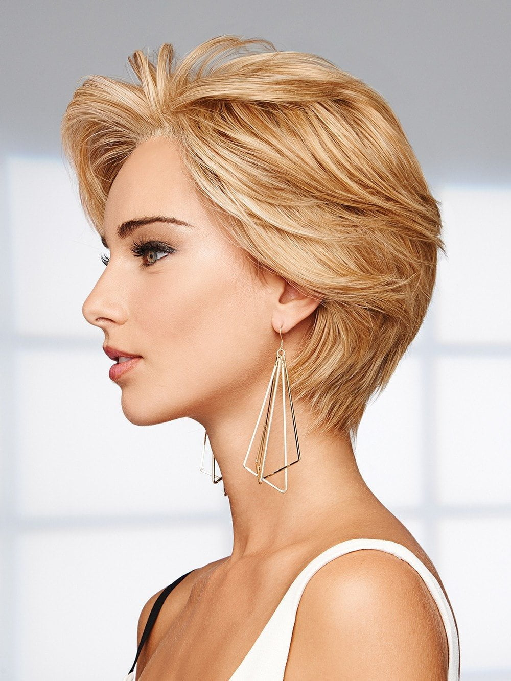 Styled like a pixie or short fun bob, 100% Human Hair