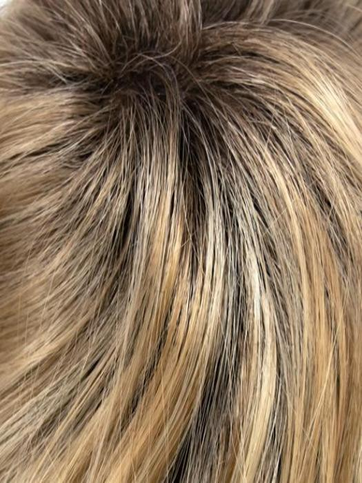 12-R8 | Dark Blonde blended with Light Golden Blonde with a Warm Medium Brown Base