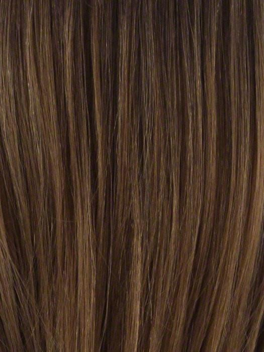 TP27/4 | Medium Dark Brown Highlight Streak with Honey Blonde Tip