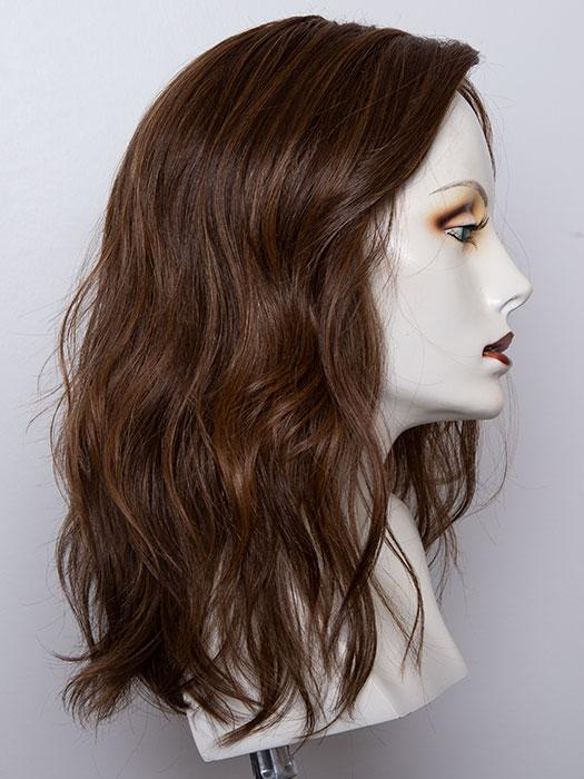 CHOCOLATE ROOTED | Medium to Dark Brown base with Light Reddish Brown highlights and Dark Roots