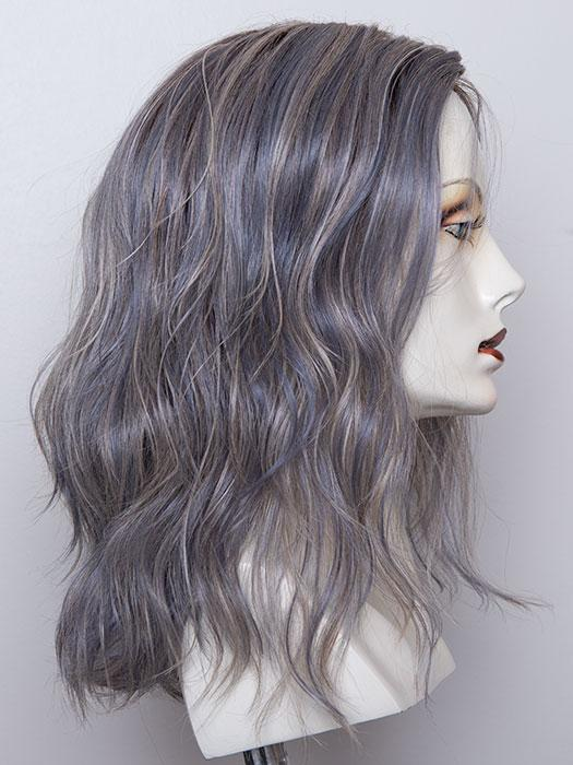 ICE BLUE ROOTED | Seamless Blend of Slate Gray Mixed with Light Steel Blue and a Touch of White Smoke with Dark Roots