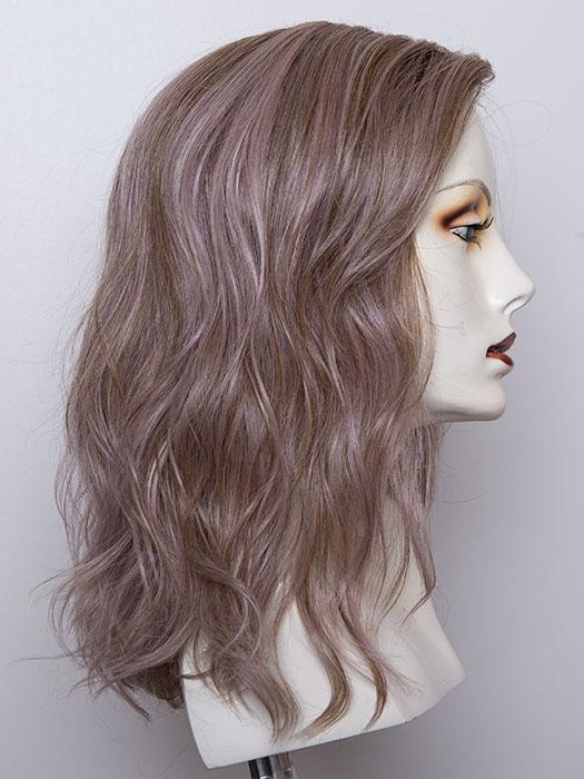 LAVENDER ROOTED | Medium Dark Brown Root, Blended into a Light Silver Smoke Tones, Blended with Various Shades of Purple with Dark Roots