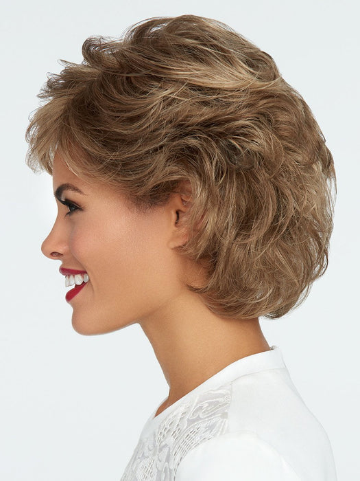 You'll love its versatility with easy and varied styling options. It offers a Sheer Indulgence™ monofilament top that creates the appearance of natural hair growth and allows for parting versatility – you can part the hair in any direction!