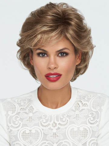 TANGO Wig by RAQUEL WELCH in R12/26H HONEY PECAN | Light Brown with Cool Subtle Medium Blonde highlights