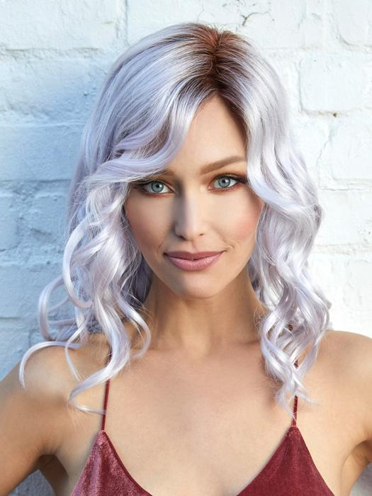 JADEN by NORIKO in LAVENDER BLUSH R | Light Brown which gradually blends into a Light Lavender throughout with Roots