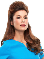 The top quality Remy human hair can be styled to blend seamlessly with long natural hair.