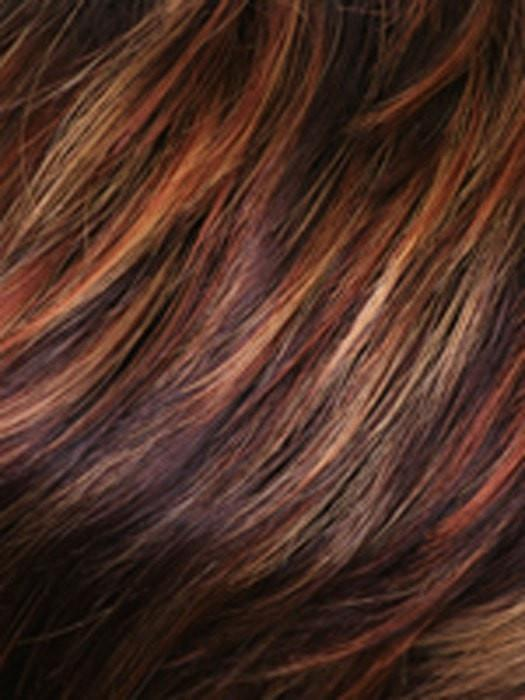 WILD-FIRE | Dark Auburn with Bright Auburn, Medium Auburn and Strawberry Blonde