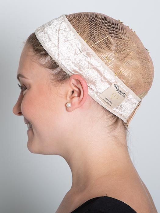 This band helps with wig cap pressure and is undetectable under any wig *Wig cap not included