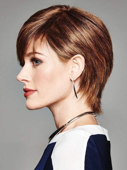 The Without Consequence Wig by Raquel Welch brings style and sophistication to an edgy haircut.