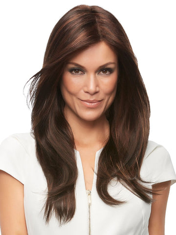 Zara is a chic, stylish long layered wig that allows endless styling options as it combines the light comfort and natural looking growth of our Mono Top along with our exclusive SmartLace technology which offers the most natural hairline available