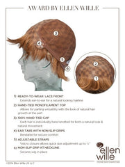 100% Hand-Tied with Lace Front, see cap construction chart for more details.