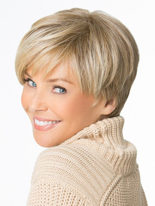 Monofilament crown creates the appearance of natural hair growth where the hair is parted