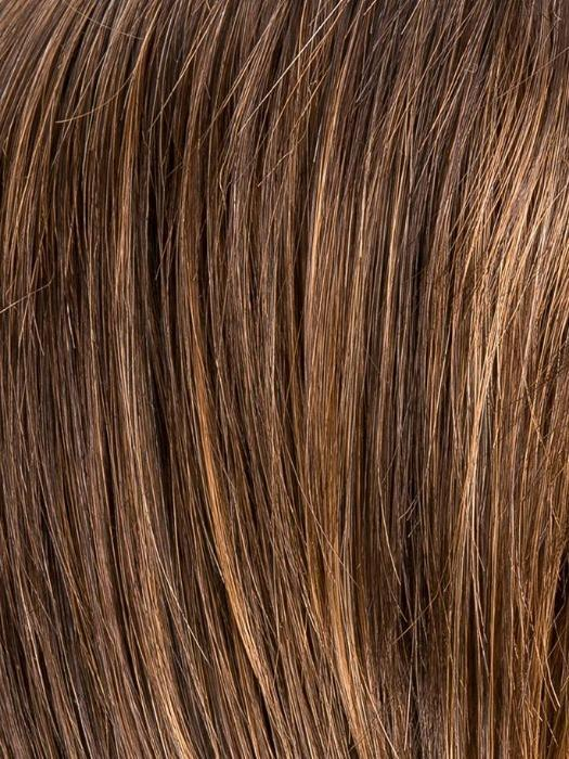 CHOCOLATE ROOTED 830.27.6  | Medium to Dark Brown base with Light Reddish Brown highlights