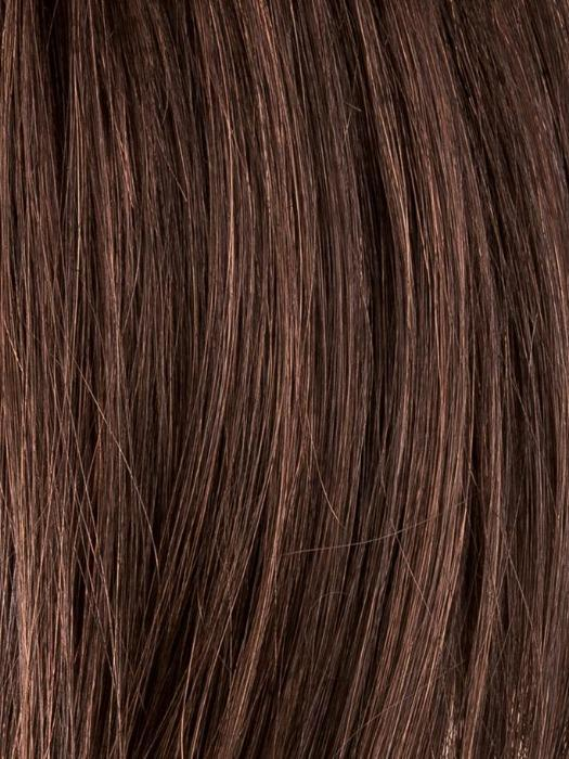 DARK CHOCOLATE ROOTED 4.33 | Dark Brown base with Light Reddish Brown highlights with Dark Roots