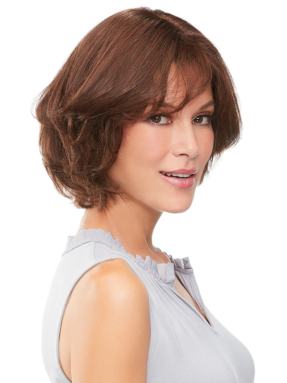 "easiPart French 8"" Remy Human Hair Topper in 6RN 
