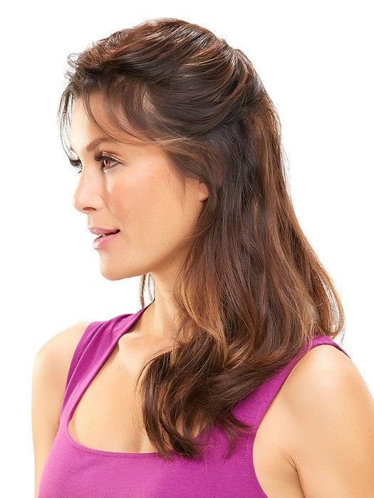 Shown in Exclusive color 6RN (lighter pieces are model's own hair)