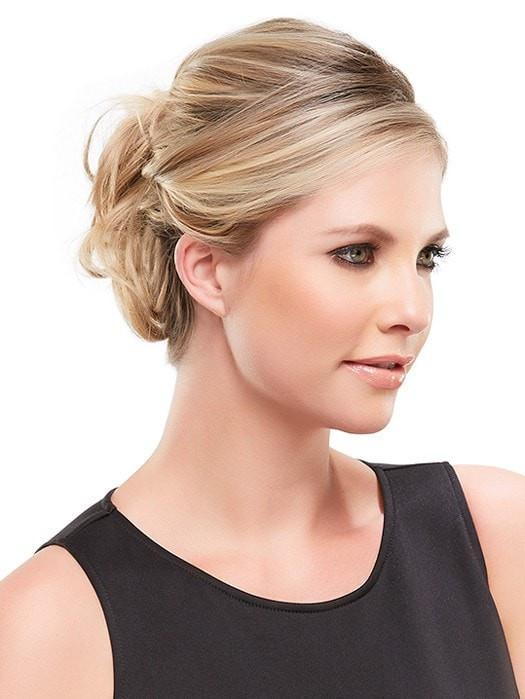 Can be worn away from the face or in an updo