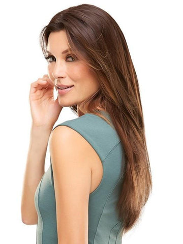 Long Straight Brown Human Hair Wig by Jon Renau