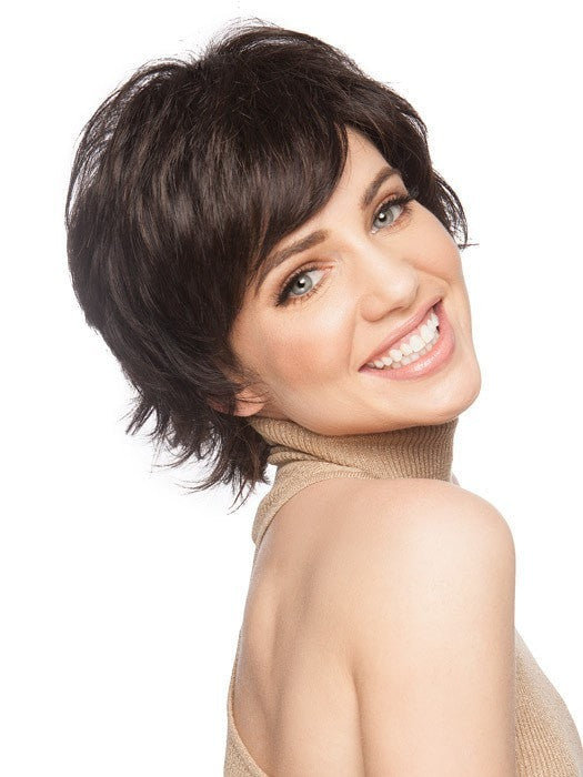 Wigs.com Exclusive Photo | Swoop the bang off to the side for a girly look | Color: GL2/6