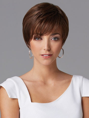 Distinction Petite by Gabor Wigs: Color GL8/10 - Dark Chestnut (Rich, Dark Brown with Coffee highlights)