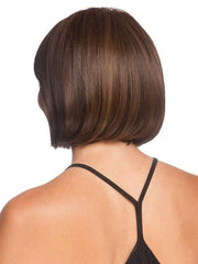 Longer layers at the crown blend with the shorter nape which creates a traditional bob | Color: Medium Brown